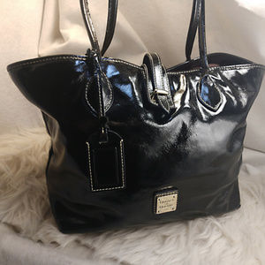 Authentic Black Patent Leather Dooney & Bourke